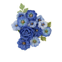 Prima - Nature Lover Collection - Flower Embellishments - Blue River
