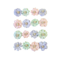 Prima - Watercolor Floral Collection - Flower Embellishments - Pretty Tints
