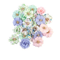 Prima - Watercolor Floral Collection - Flower Embellishments - Tiny Colors
