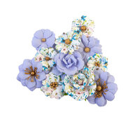 Prima - Watercolor Floral Collection - Flower Embellishments - Blank Canvas