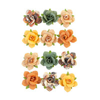 Prima - Diamond Collection - Flower Embellishments - Beautiful Sunset