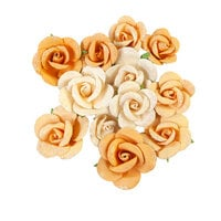 Prima - Diamond Collection - Flower Embellishments - Rising Fire
