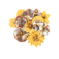 Prima - Diamond Collection - Flower Embellishments - Colorful Beauty