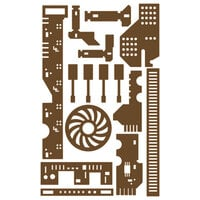 Prima - Decorative Chipboard - Set 05