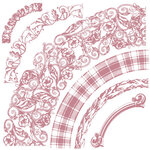 Re-Design - Clear Cling Decor Stamps - Curved Accents