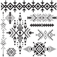 Re-Design - Clear Cling Decor Stamps - Tribal Prints