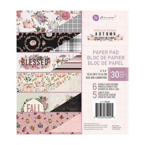 Prima - Hello Pink Autumn Collection - 6 x 6 Paper Pad