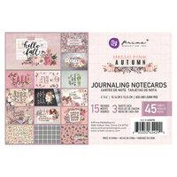 Prima - Hello Pink Autumn Collection - 4 x 6 Journaling Cards
