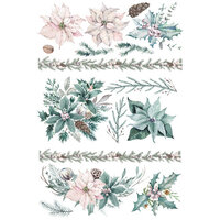 Re-Design - Christmas - Decor Transfers - Evergreen Florals