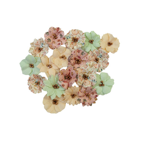 Prima - Hello Pink Autumn Collection - Flower Embellishments - Cozy Evening