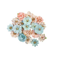 Prima - Christmas Sparkle Collection - Flower Embellishments - Christmas Lights