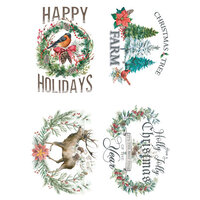 Re-Design - Christmas - Decor Transfers - Holly Jolly Xmas