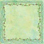 Prima - Sew Cute Collection - 12 x 12 Embroidered Paper - Entredeux