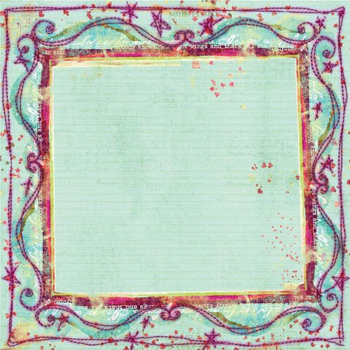Prima - Sew Cute Collection - 12 x 12 Embroidered Paper - On Stage, CLEARANCE