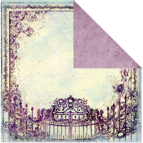 Prima - Indeed Collection - 12 x 12 Double Sided Paper - Fairy Garden