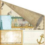 Prima - Seashore Collection - 12 x 12 Double Sided Paper - Sea Memories