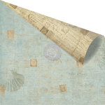 Prima - Seashore Collection - 12 x 12 Double Sided Paper - Shell Postage