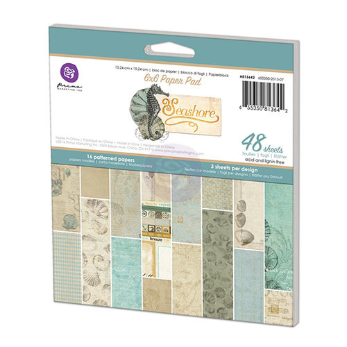 Prima - Seashore Collection - 6 x 6 Paper Pad