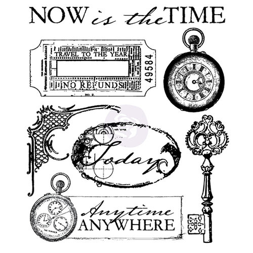 Prima - Time Travelers Memories Collection - Clear Acrylic Stamps - Two