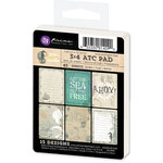 Prima - Seashore Collection - 3 x 4 Artist Trading Card Pad