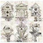 Prima - Paintables - 4 x 6 Pocket Cards - Secret Garden