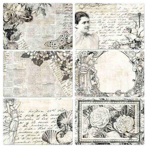 Prima - Paintables - 4 x 6 Pocket Cards - Classic Memories