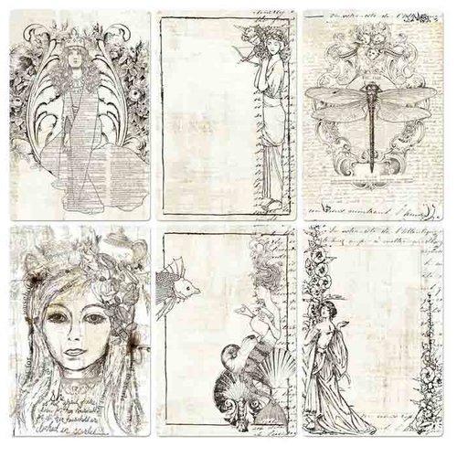 Prima - Paintables - 4 x 6 Pocket Cards - Bohemian