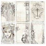 Prima - Paintables - 4 x 6 Pocket Cards - Bohemian