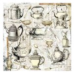 Prima - Paintables - 12 x 12 Paper - Afternoon Tea