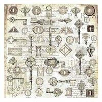 Prima - Paintables - 12 x 12 Paper - Locksmith