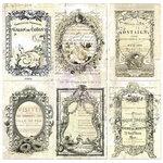 Prima - Paintables - 4 x 6 Pocket Cards - Nostalgic Reflections