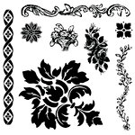 Prima - Iron Orchid Designs - Clear Acrylic Decor Stamps - Fleur