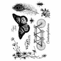 Prima - Iron Orchid Designs - Cling Mounted Stamps - Nature