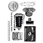 Prima - Iron Orchid Desgins - Cling Mounted Stamps - Curiosities