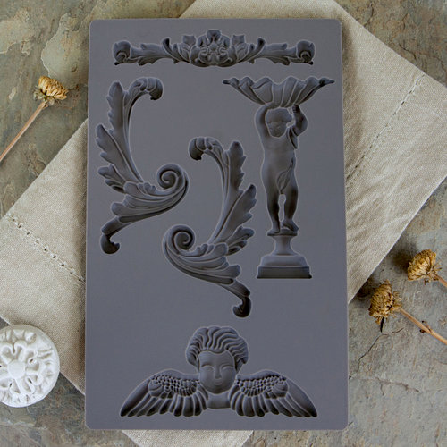 Prima - Iron Orchid Designs - Vintage Art Decor Mould - Baroque 5