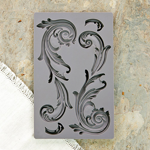 Prima - Iron Orchid Designs - Vintage Art Decor Mould - Large Fleurish