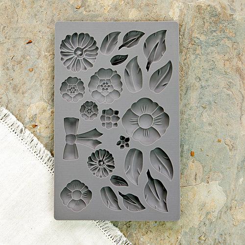 Prima - Iron Orchid Designs - Vintage Art Decor Mould - Rustic Fleur