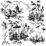 Prima - Iron Orchid Designs - Cling Mounted Stamps - Toilechinoiserie