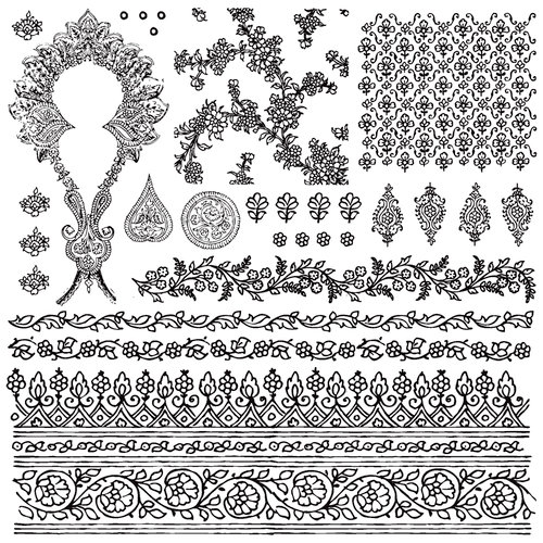 Prima - Iron Orchid Designs - Cling Mounted Stamps - Bohemian