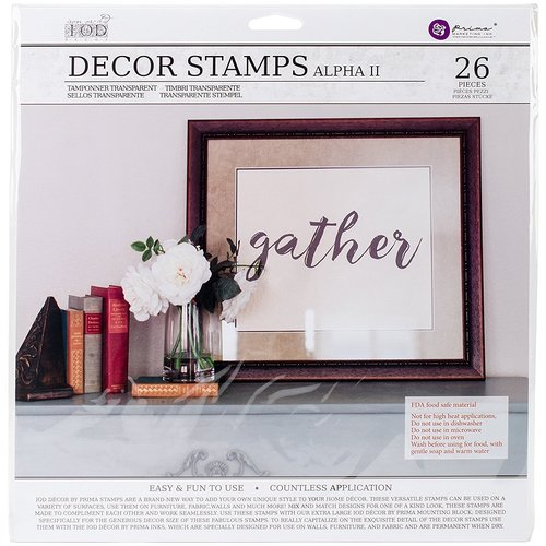 Prima - Iron Orchid Designs - Clear Acrylic Decor Stamps - Alpha 2
