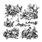 Prima - Iron Orchid Designs - Clear Acrylic Decor Stamps - Pastoral Toile