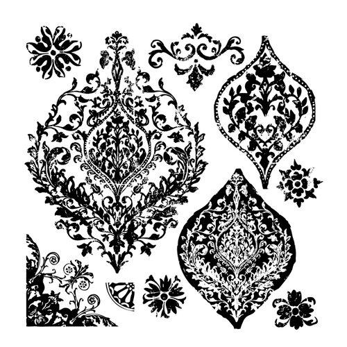 Prima - Iron Orchid Designs - Clear Acrylic Decor Stamps - Portico