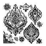 Prima - Iron Orchid Designs - Clear Acrylic Decor Stamps - Portico