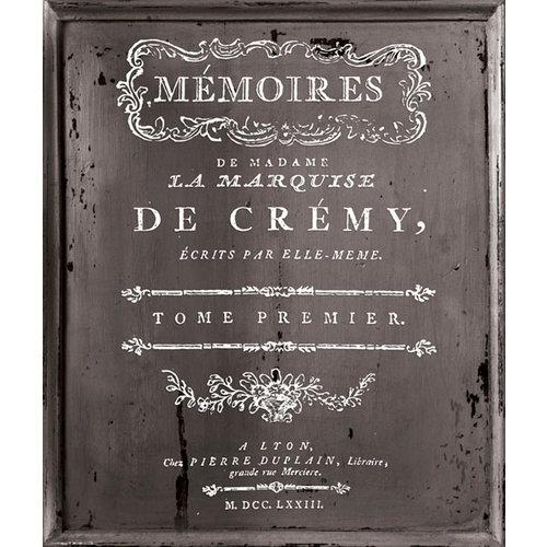 Prima - Iron Orchid Designs - Decor Transfer - Small - White - Memoir
