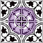 Prima - Iron Orchid Designs - Clear Acrylic Decor Stamps - 12 x 12 - Field Tile Cubano