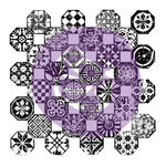 Prima - Iron Orchid Designs - Clear Acrylic Decor Stamps - 12 x 12 - Mosaico