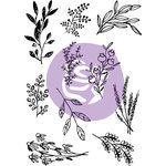 Prima - Iron Orchid Designs - Clear Acrylic Decor Stamps - Sweet Sprigs
