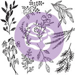 Prima - Iron Orchid Designs - Clear Acrylic Decor Stamps - 12 x 12 - Sweet Sprigs
