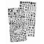 Prima - Alphablends - Stickers and Adhesive Chipboard - Alphabet - Black, CLEARANCE