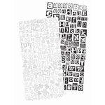 Prima - Alphablends - Stickers and Adhesive Chipboard - Alphabet - Black and White, CLEARANCE
